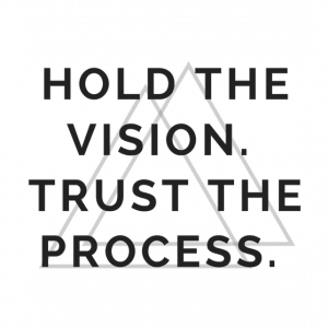 Hold the vision trust the process image